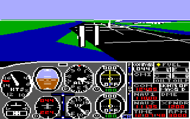 subLOGIC Flight Simulator II for Color Computer 3