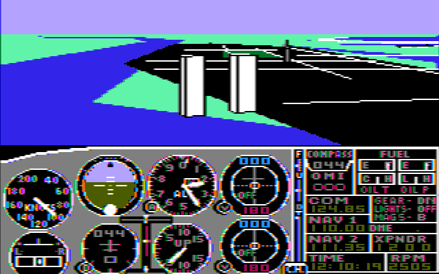 Microsoft Flight Simulator 2.14 for IBM PC,AT,XT,PCjr,PS/2 - Color composite monitor