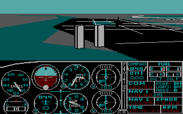 Microsoft Flight Simulator 2.14 for IBM PC,AT,XT,PCjr,PS/2 - RGB monitor
