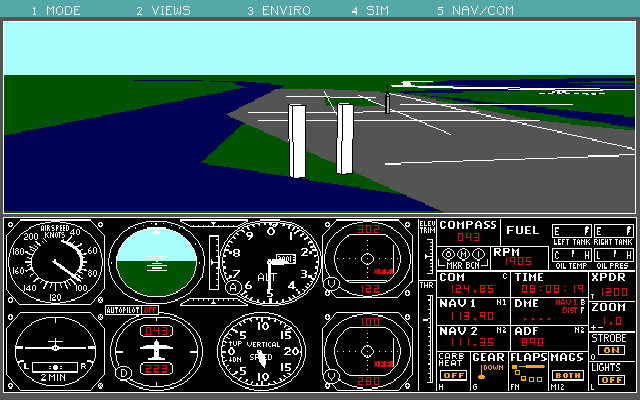 Microsoft Flight Simulator 3.0 for DOS