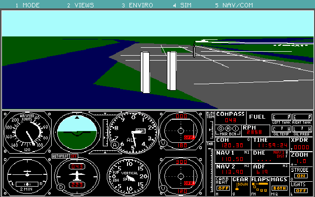 Microsoft Flight Simulator 4.0 for DOS