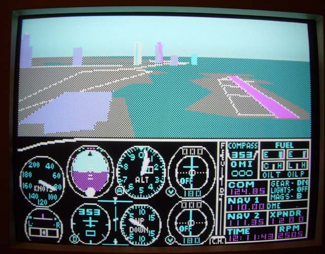 Microsoft Flight Simulator 2.12 and subLOGIC Scenery Disk 9