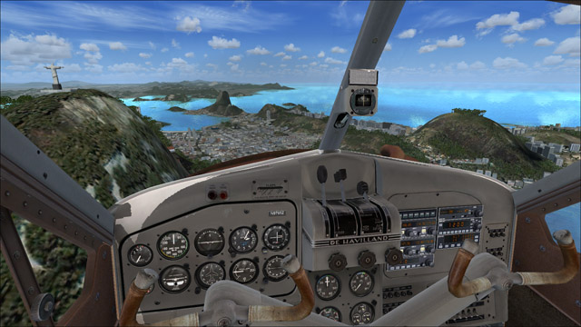 Microsoft Flight Simulator X - de Havilland Beaver DHC2 - 3D virtual view of Rio de Janeiro