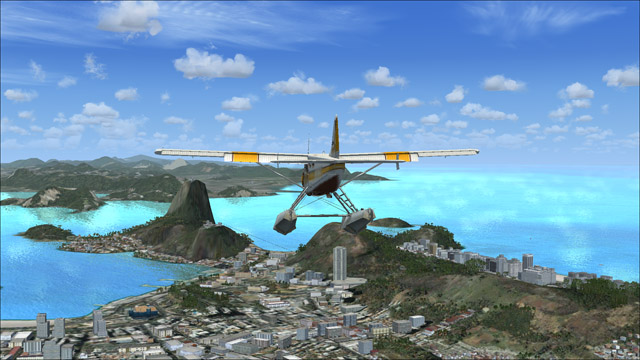 Microsoft Flight Simulator X - de Havilland Beaver DHC2 - an outside plane view of Rio de Janeiro