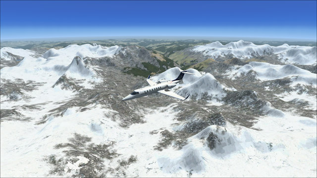 Microsoft Flight Simulator X - Learjet 45 - Himalayas panorama