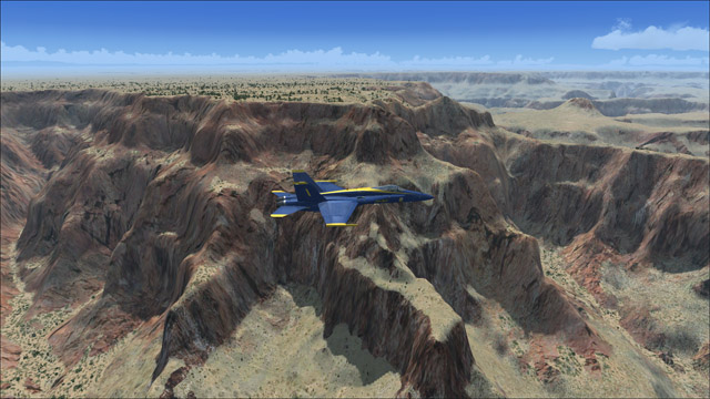 Microsoft Flight Simulator X - F/A-18 - Grand Canyon