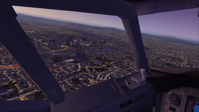 Microsoft Flight Simulator X - Boeing 737-800 - good morning Las Vegas