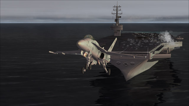 Microsoft Flight Simulator X - F/A-18 - take of