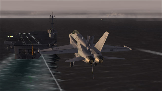 Microsoft Flight Simulator X - F/A-18 - I love landings on an aircraft carrier